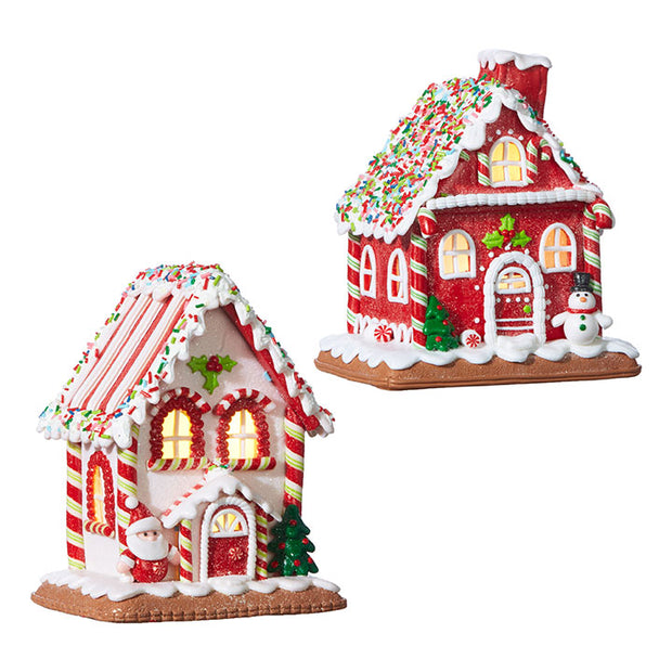 "7.25"" Gingerbread Lighted House"