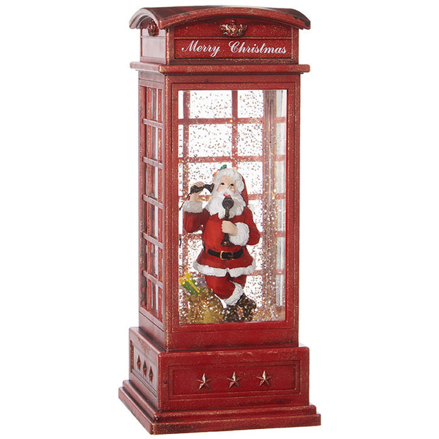 "10"" Santa in Musical Lighted Water Booth"