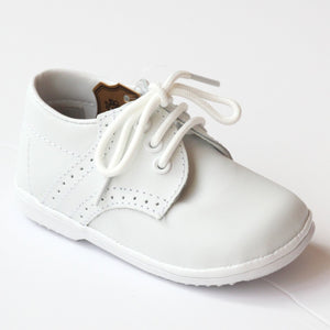 JAMES BOY'S WHITE LEATHER LACE UP SHOE (BABY)