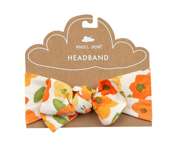 Poppies Muslin Headband