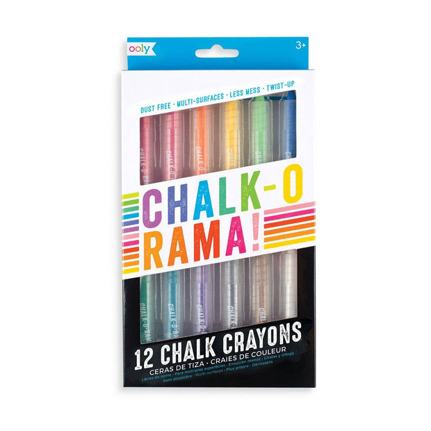 OOLY - Chalk-O-Rama Dustless Chalk Sticks - Set of 12