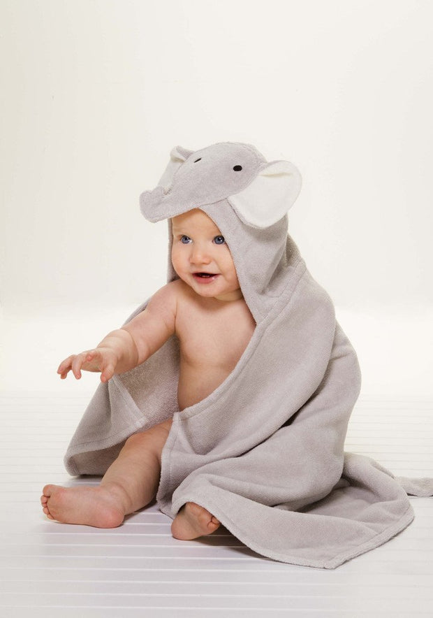 GRAY ELEPHANT HOODED BATH WRAP