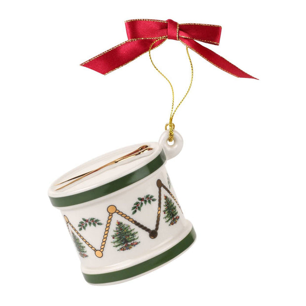 Christmas Tree Drum Ornament