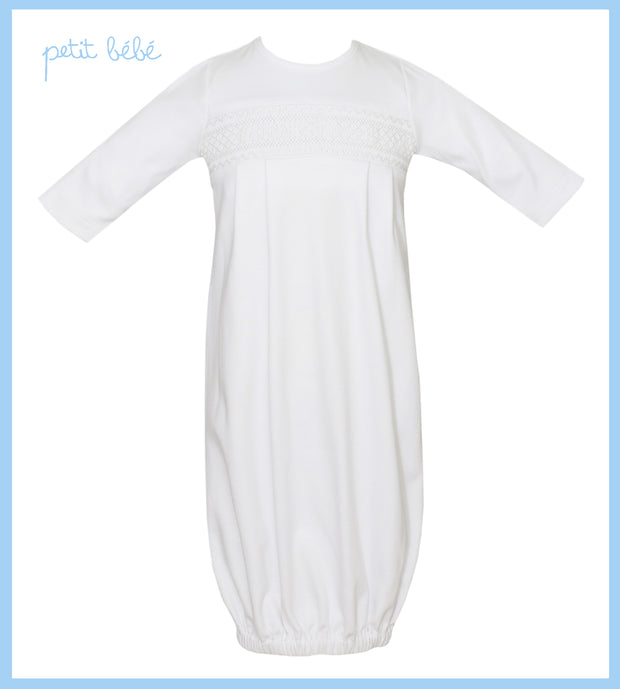 Boys White knit Gown