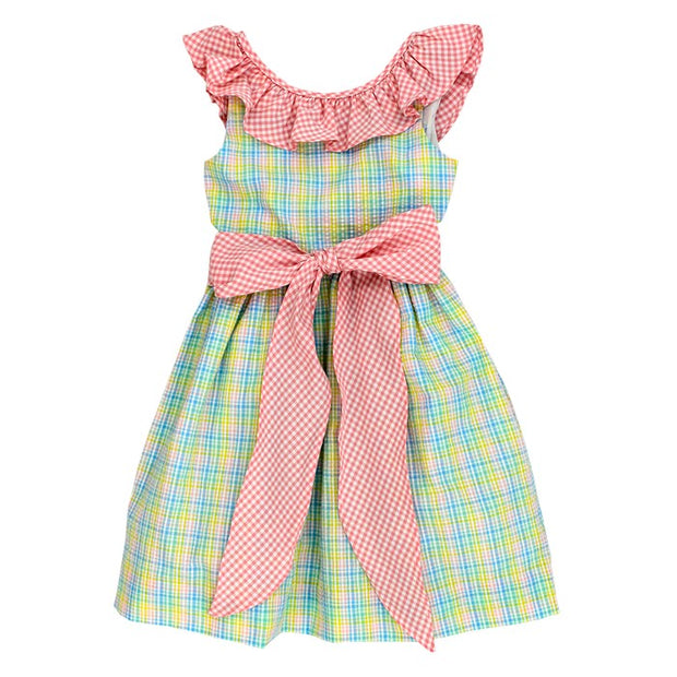 PREPPY PLAID SEERSUCKER-DRESS