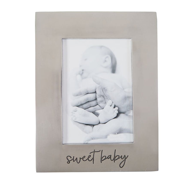 SWEET BABY ENGRAVED SILVER PICTURE FRAME