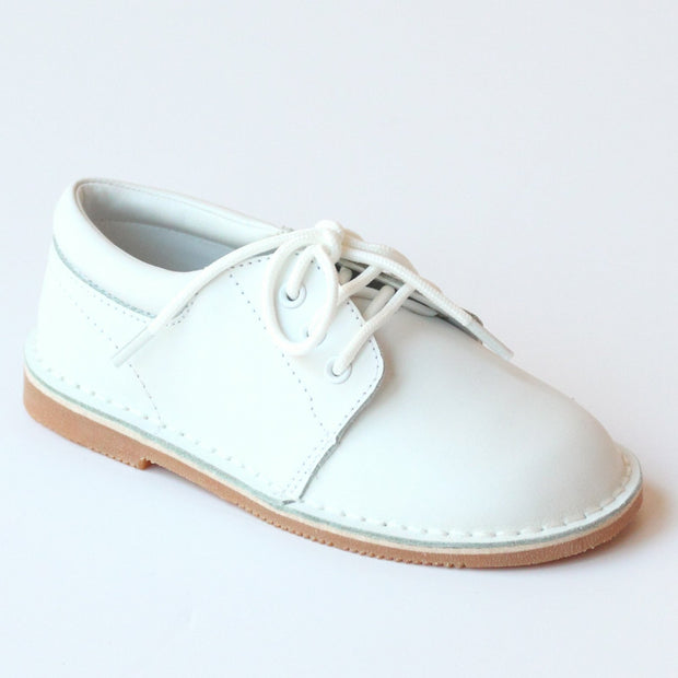 TYLER WHITE STITCH DOWN LEATHER LACE UP SHOE