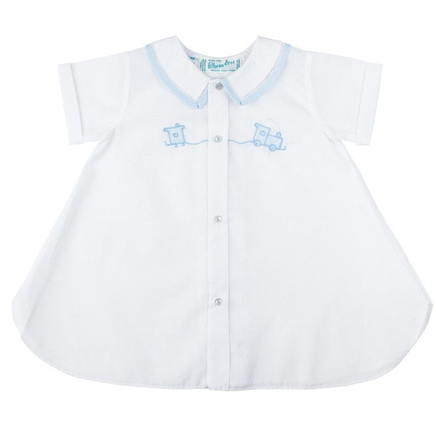 Baby Boy Day Gown w/ Train