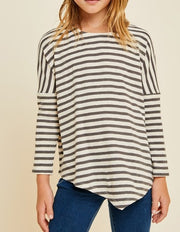 STRIPE LS DOLMAN TOP