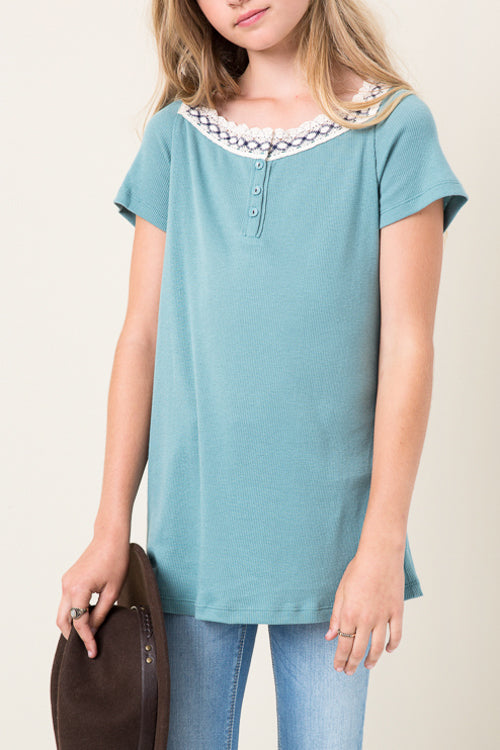 A-LINE KNIT GIRLS TUNIC