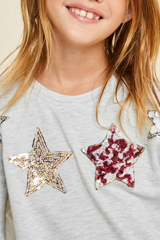 Sequin Star Pullover Sweatshirt
