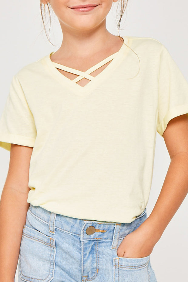 Lemon Criss Cross Tee