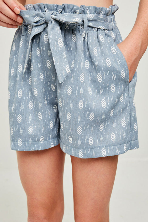 PRINTED PAPERBAG SHORTS