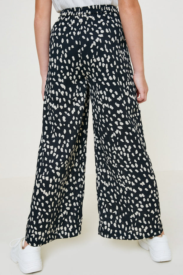 DOTTED WIDE LEG PANT