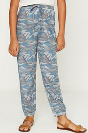 Piped Camo Knit Joggers