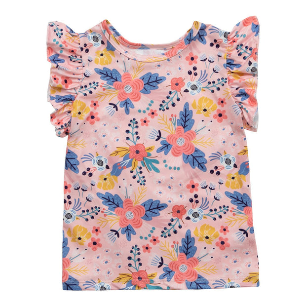 Field of Flowers S/S Ruffle Tee