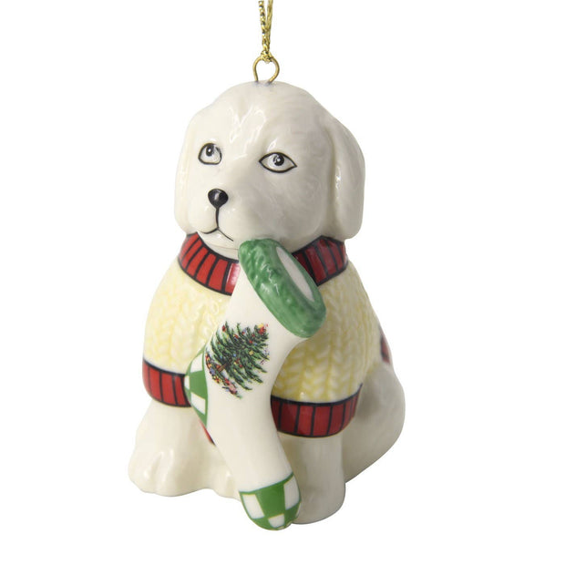Christmas Tree Puppy Ornament