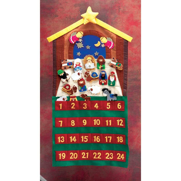 FELT ADVENT CALENDAR W/ 24 PCS