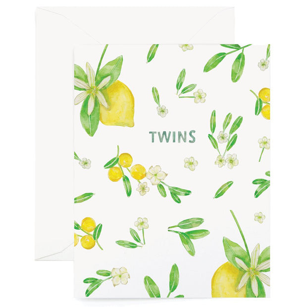 FLORAL TWINS CARD