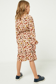 Mountain Floral Ruffle Trim Dress