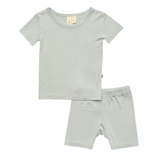 Short Sleeve Toddler Pajama- Sage