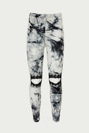 Tye Dye Lace Cutout Leggings- Black