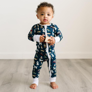 Navy Puppy Love Bamboo Viscose Zippy