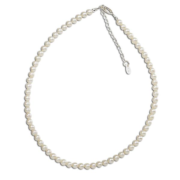 ZOEY STERLING SILVER WHITE PEARL NECKLACE