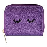 Dark Purple Glitter Wink Wallet