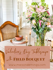 Tablescape with Field Bouquet
