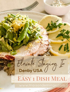 Easy One Dish Herbed Turkey Breast Meal