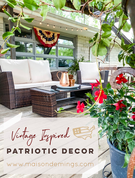 Vintage Inspired Patriotic Decor