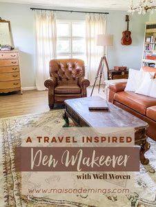 Travel Inspired Den Makeover
