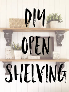 DIY Laundry Room Open Shelving