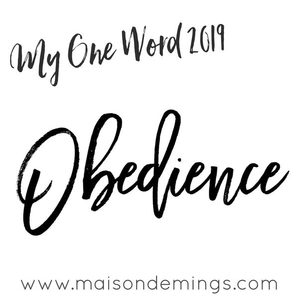 My One Word - Obedience