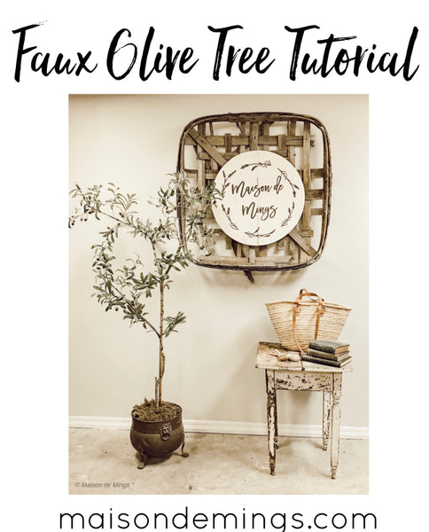 Faux Olive Tree Tutorial