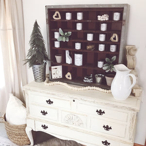 Metal Cabinet - Winter Styling
