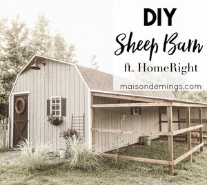 DIY Sheep Barn ft. HomeRight