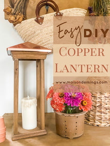 DIY Copper Lantern
