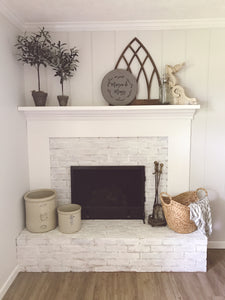 30 Minute Fireplace Surround Makeover