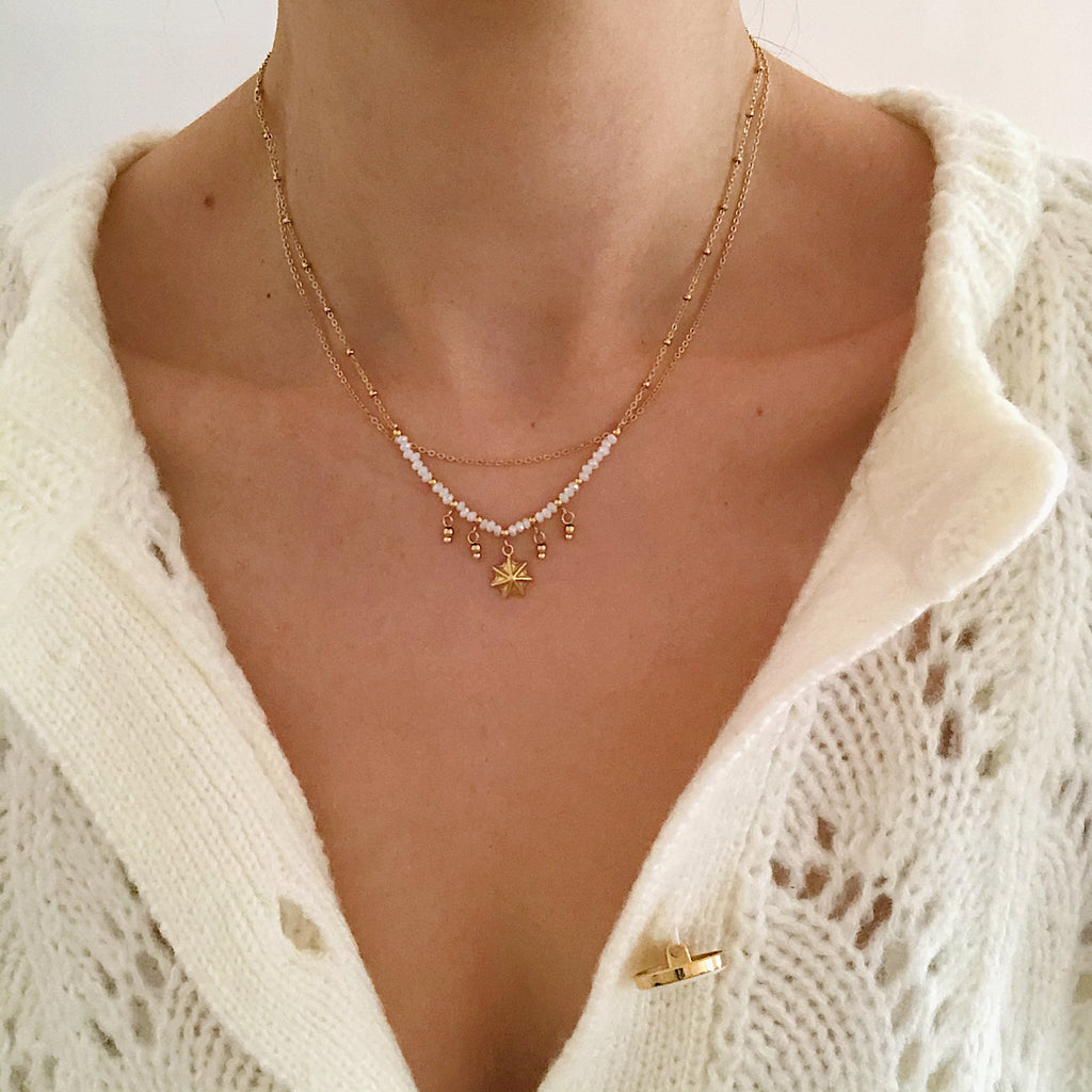 Collier double CHARLES (+ de couleurs)