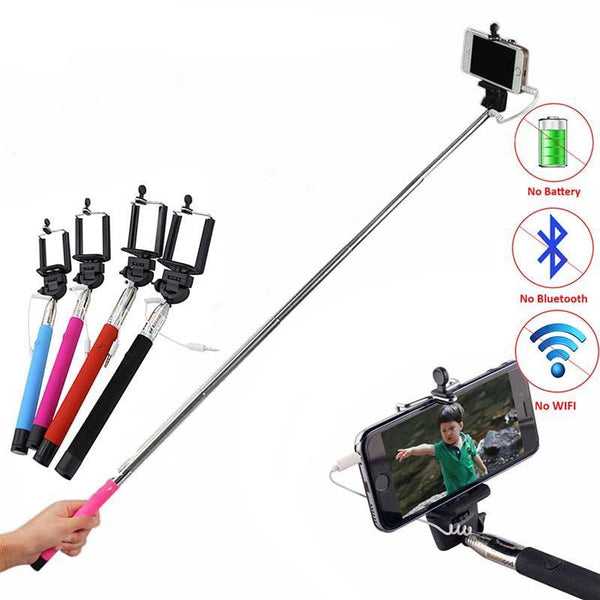 Wired Selfie Stick for Iphone, Samsung