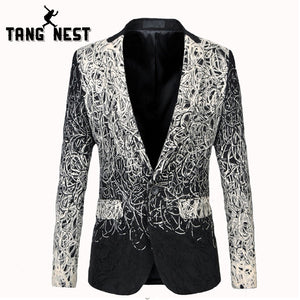 TANGNEST Casual Men Blazers Single Button Pockets Blazer Masculino New Design Fashion Men Blazer Plus Asian Size 5XL MWX382