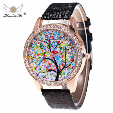 Zhoulianfa Top Luxury Brand Unisex Quartz Watches diamondLeather Wrist Simple Watch Round Case Watch