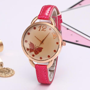 New Fashion Women PU Leather Elegant ladies watches Band Quartz Analog #905