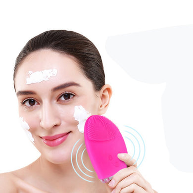 Mini Electric Facial Cleaning Skin Care Massage Brush Face Washing Machine Waterproof Silicone Face Cleanser Dirt Remove Hot