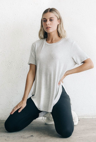 Joah Brown Live-in Slouchy Tee Grey