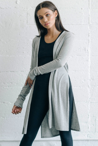 Joah Brown Luna Cardigan Grey Rib