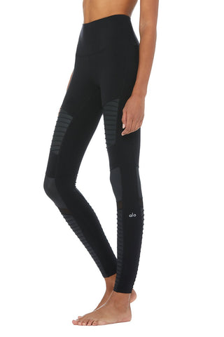 Alo Highwaist Moto Legging Black