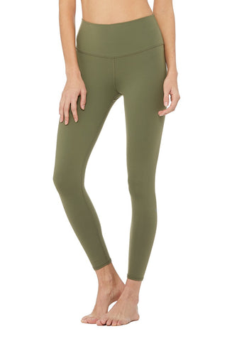 Alo Highwaist Airbrush Legging Jungle Green